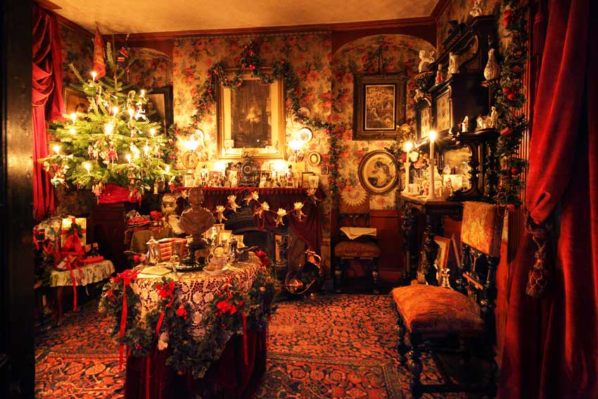 50 museums in 70 weeks dennis severs house for Living room xmas ideas