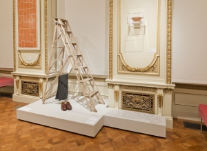 Stepladder, Toscannini' pants and shoes. Photo by Matt Flynn © 2014 Cooper Hewitt, Smithsonian Design Museum
