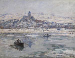 Claude-Oscar Monet (1840 - 1926) Vétheuil in Winter, 1878-79 Oil on canvas 27 x 35 3/8 inches Photo: Michael Bodycomb