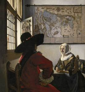 Johannes Vermeer (1632–1675) Officer and Laughing Girl, c. 1657 Oil on canvas 19 ⅞ x 18 ⅛ inches Photo: Michael Bodycomb
