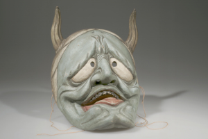 Mask, Horned Japan Wood, pigment, cord Asian Ethnographic Collection, American Museum of Natural History, 70.2/ 120