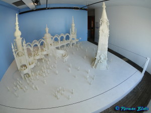 3D printed model of Luna Park, by the Great Fredini. Photo by Norman Blakeall. Rights Reserved.