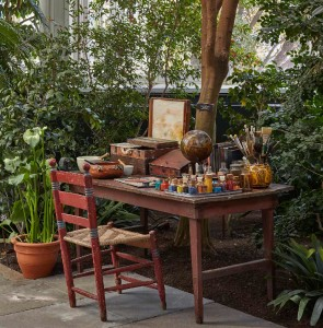 An evocation of the artist's garden and studio Photo by Robert Benson